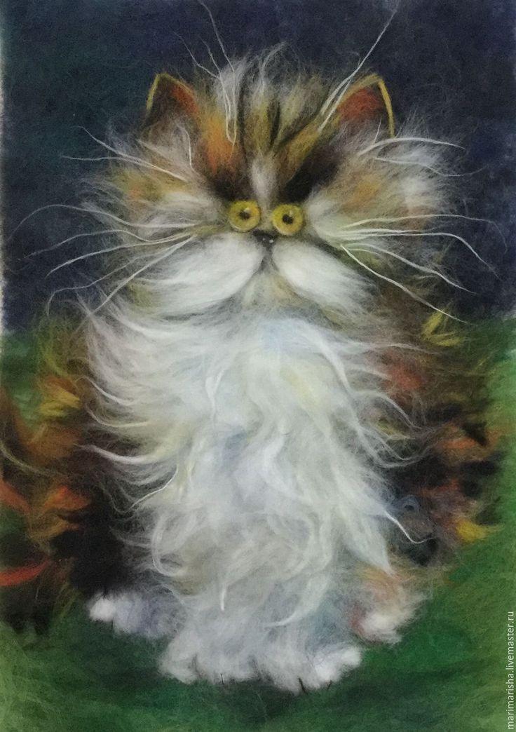 абрикосова картины из шерсти котики фото сравнение