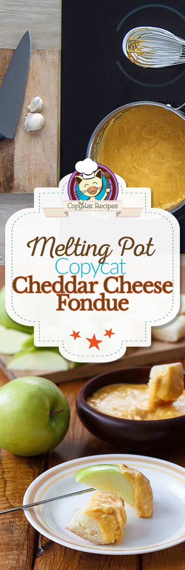 Step by Step instructions on how to make the Melting Pot Cheddar Cheese Fondue.
