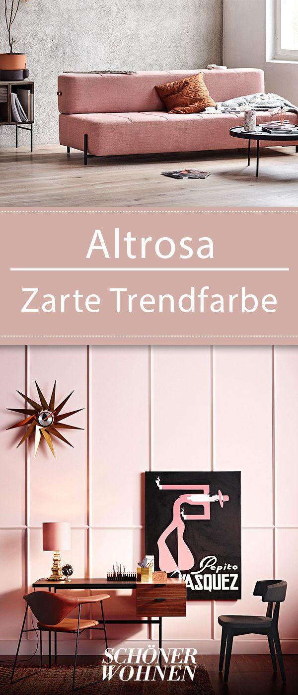 Altrosa Zarte Trendfarbe Wandfarbe Wohnzimmer
