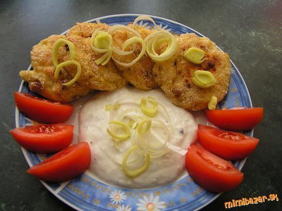 Karfiolovo sýrové placky