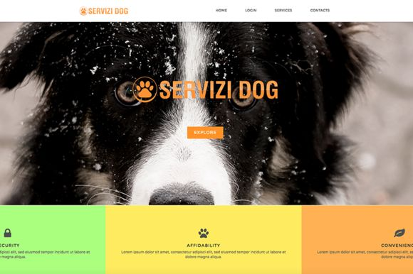 Dog Services - HTML Template by RB Web Design on @creativework247