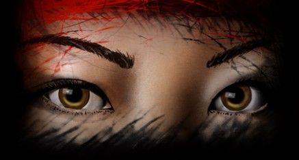 Asian Woman drawn in Photoshop