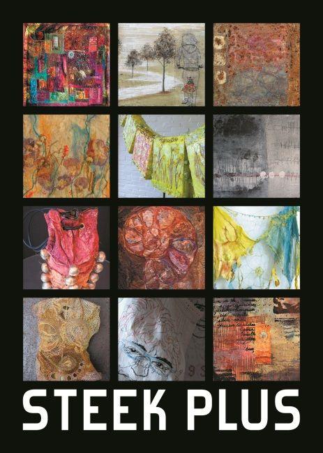 Steek + ;   60 textiel kunstenaars op het gebied van borduren, patchen, quilten, etc.