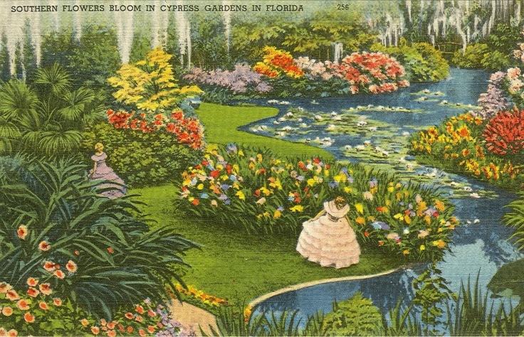 vintage cypress garden water