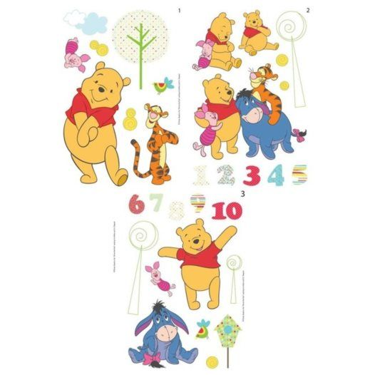 Disney - Nalle Puh 66-Pack Wallies Wall Stickers