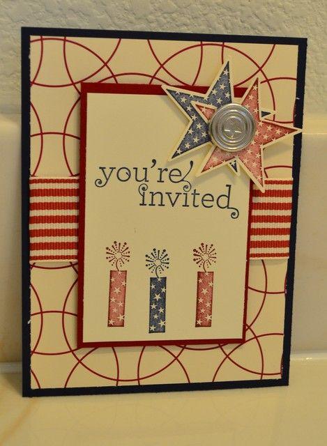 Cute July 4th birthday invitation #invitation