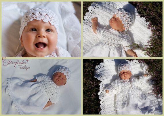 Baptism DressCrochet Baby DressBaby Girl by JozefinkaBoutique