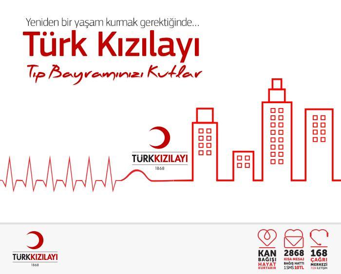 Türk Kızılayı, Tıp Bayramı kutlama postu.