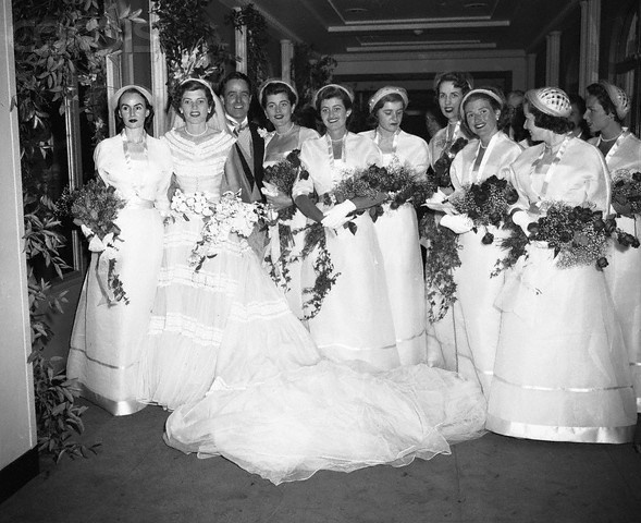 1953 - Eunice Kennedy Shriver and her wedding attendants