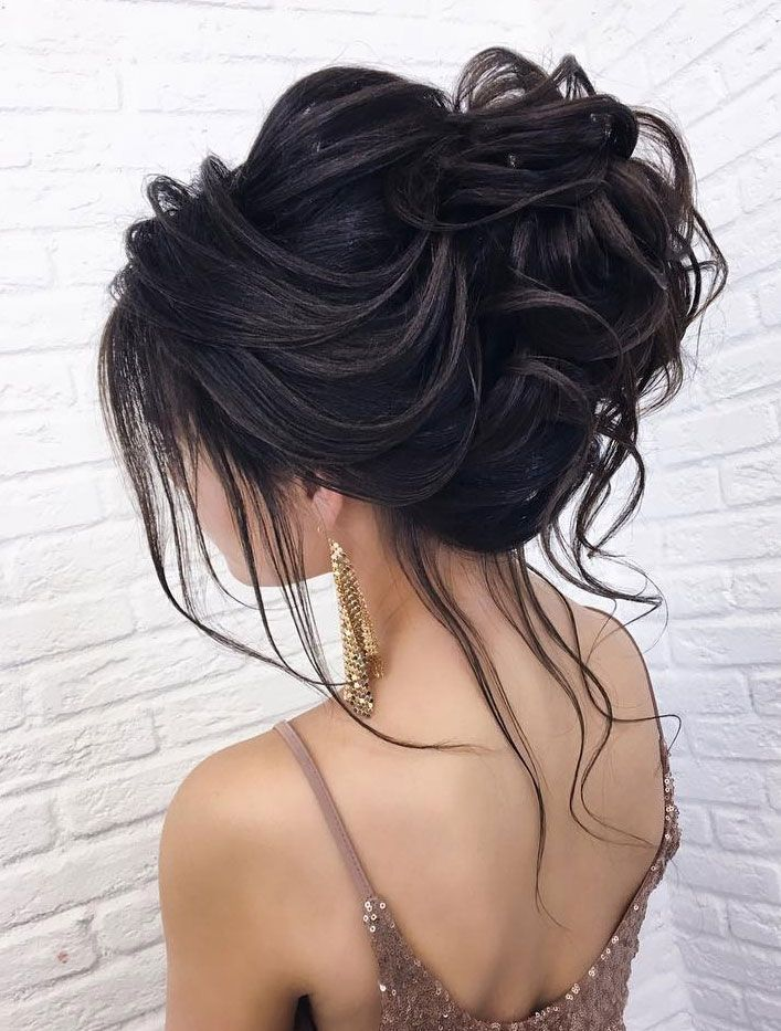 44 Messy updo hairstyles – The most romantic updo to get an elegant look – I Take You | Wedding Dress Collection | Wedding Gowns | Wedding Dresses