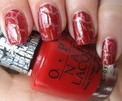 OPI Polish Red Shatter 15 ml: Amazon.co.uk: Beauty   -   These nails look better than when I bought some from Avon -  They were awful it looked like I'd just smudged all my nails and caught them on stuff and wrecked my nails. Looking at these I'm still not keen, looks messy, what do you think??? x x x