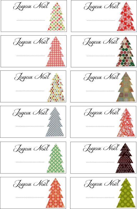 étiquettes de Noël: