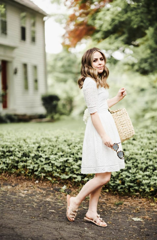 2307b3a1b5bc little white eyelet dress. (Corilynn)