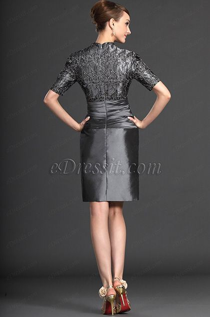 83fdabe5fed Elegant Lace Grey Mother of the Bride Dresses (26121208) in 2019 ...