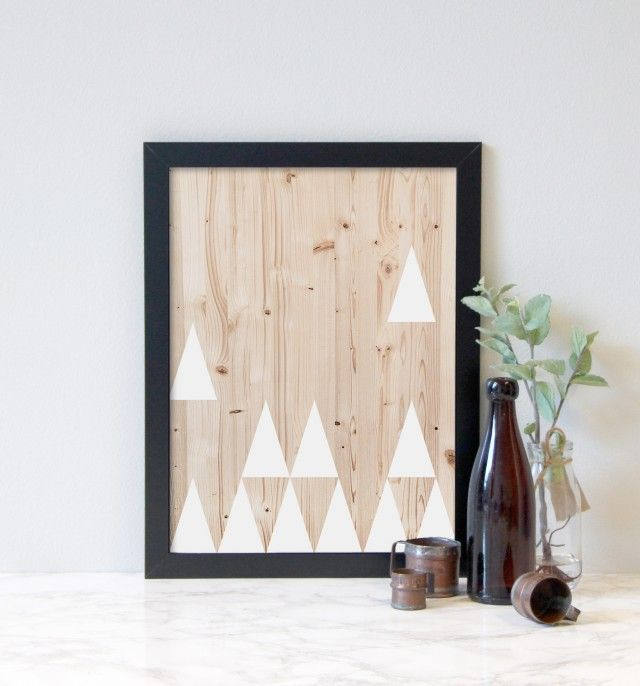 Triangle wood - Lucky me studios #nordicdesigncollective #triangle #luckymestudios #poster #wood #print #swedishdesigner