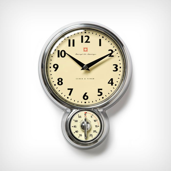 Classic retro wall clock with 60 min. timer. 18 cm - Bengt Ek - Bengt Ek Design - RoyalDesign.com