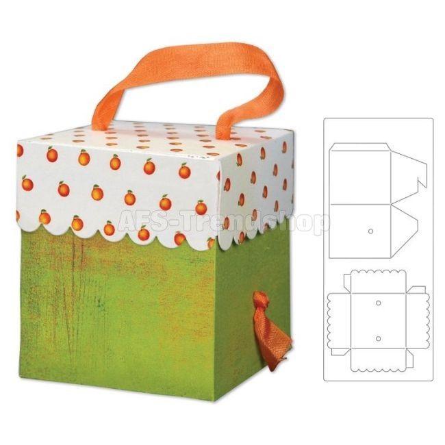 Sizzix Bigz XL Die Box, Scallop w/Handle Holes Stanzschablone Geschen