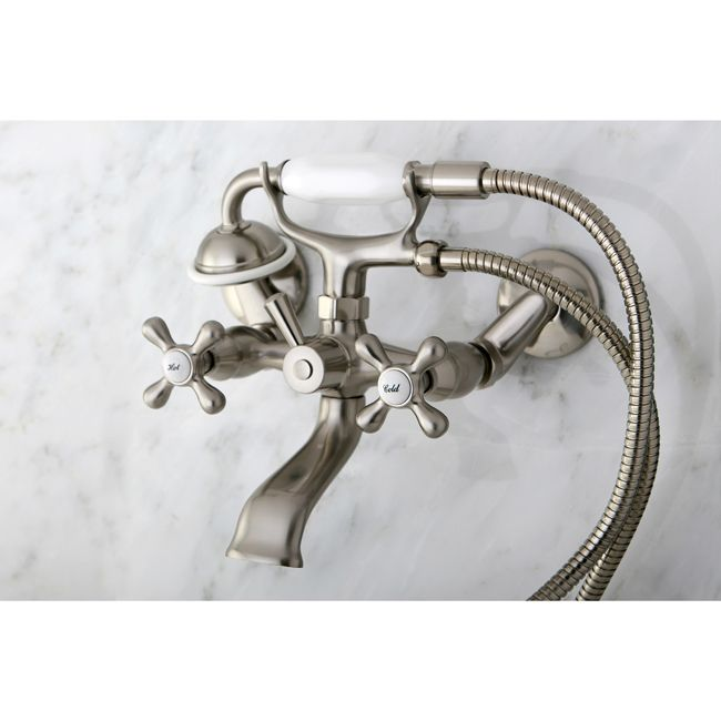 Wall Mount Satin Nickel Kitchen Faucet | Overstock.com Shopping - The Best Deals on Kitchen Faucets