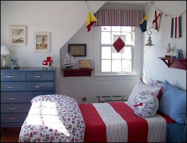 129 best nautical themed bedrooms images on pinterest for Beach theme bedroom ideas for girls