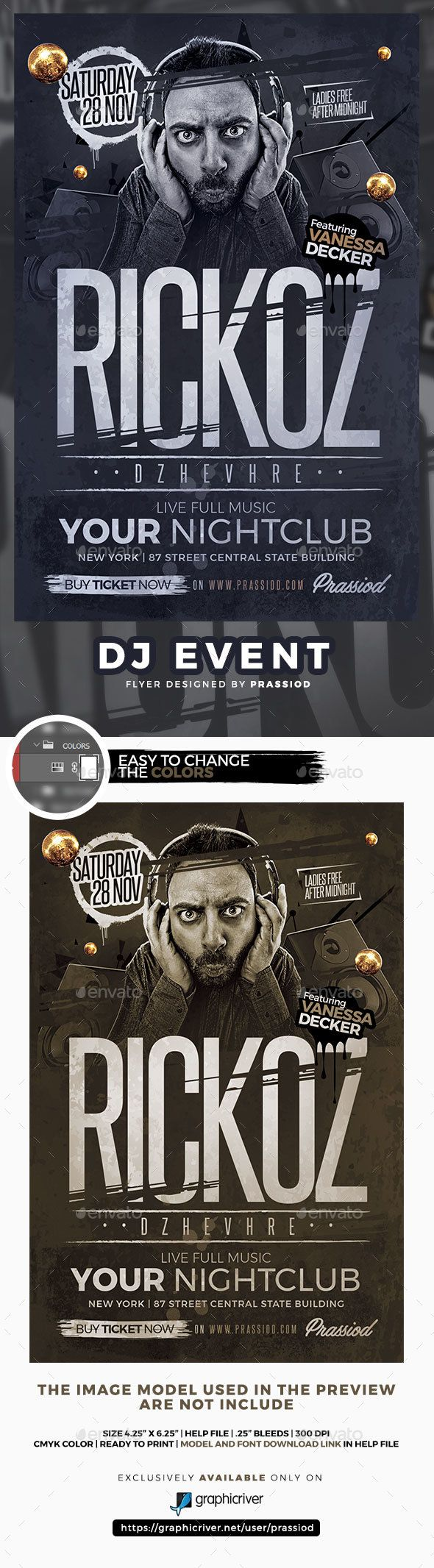 DJ Event #Flyer Template - Clubs & Parties Events
