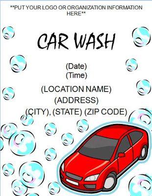 Car Wash Tickets Word