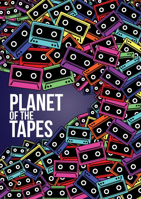 Planet of the Tapes - David Archbold  #graphicdesign #design #art #digital #aminated #logo