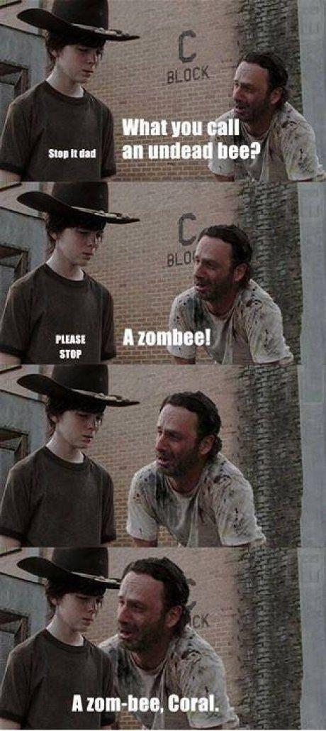 Walking Dad jokes never ever get old.