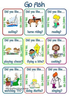 Go fish did you like verb ing charts for What are the rules for go fish
