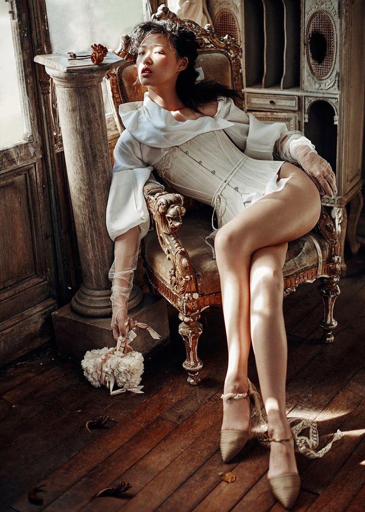 "Tian Yi in ""Twist"" by Kiki Xue for Harper's Bazaar China, May 2015"