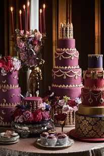 Wedding theme idea - red and gold colour scheme in ballroom (BridesMagazine.co.uk)