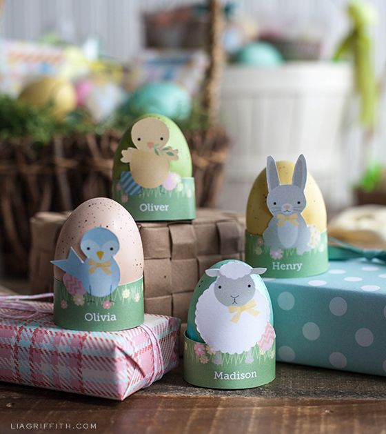 Free Printable Animal Easter Egg Holders
