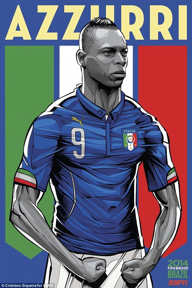 Italy's Mario Balotelli is the man chosen to be on the poster for the Azzurri