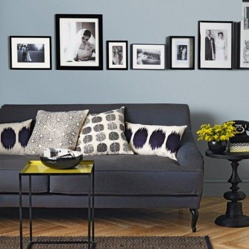 blue and gray with black and white accent