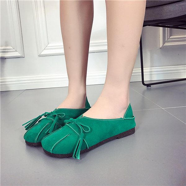 Hot-sale Soft Leather Slip On Lazy Portable Comfortable Flat Loafers For Women - NewChic