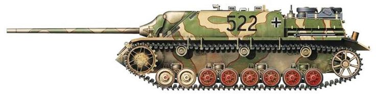 Panzer IV/70 (V) coded 522 of an unknown unit, Germany, May 1945,