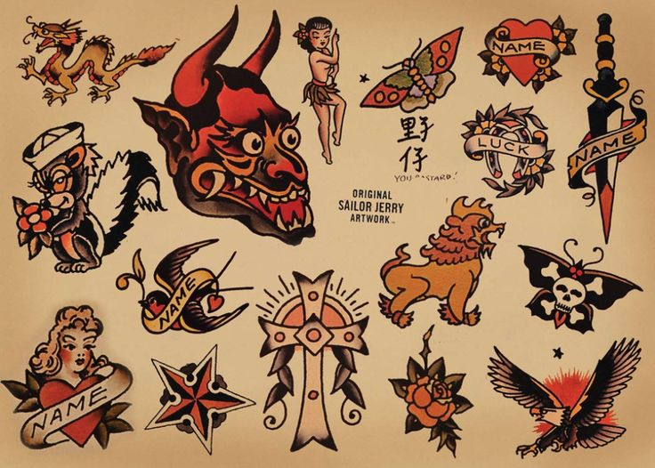 Sailor Jerry Tattoo Flash Meanings