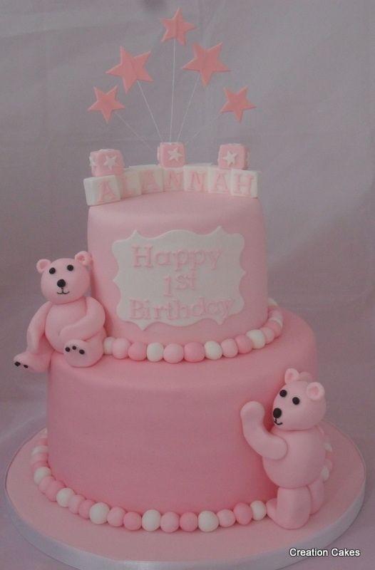 50 best Girls 1st Birthday images on Pinterest Girl cakes Baby