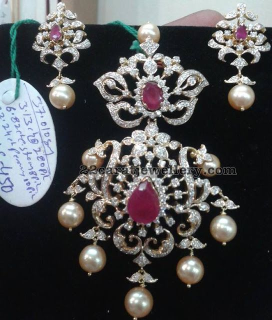 Pearls Chain with Pendants - Jewellery Designs