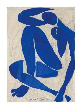 Nu Bleu IV Art Print by Henri Matisse at Art.com