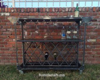 Bar carrito, mediados siglo carro de servir de diseño, bar de vinos, licor estante gabinete, moderno/vintage/vino, restaurante carro