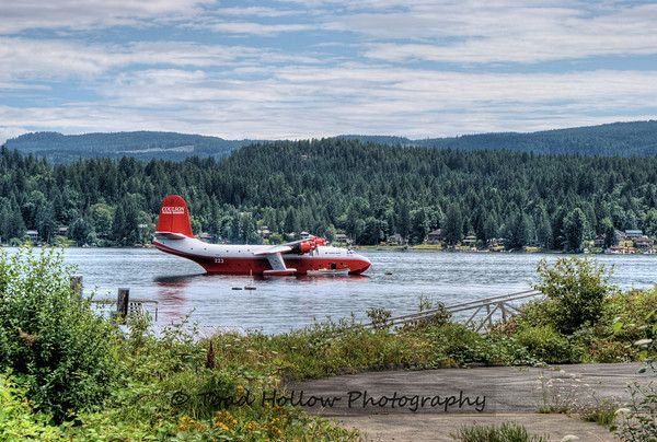 Mars Water Bomber on Sprout Lake, Vancouver Island, B.C., Canada...aside from house boating, jet skiing you can also see the Mars Water Bombers when not fighting forest fires resting on beautiful Sprout Lake just outta Port Alberni, BC