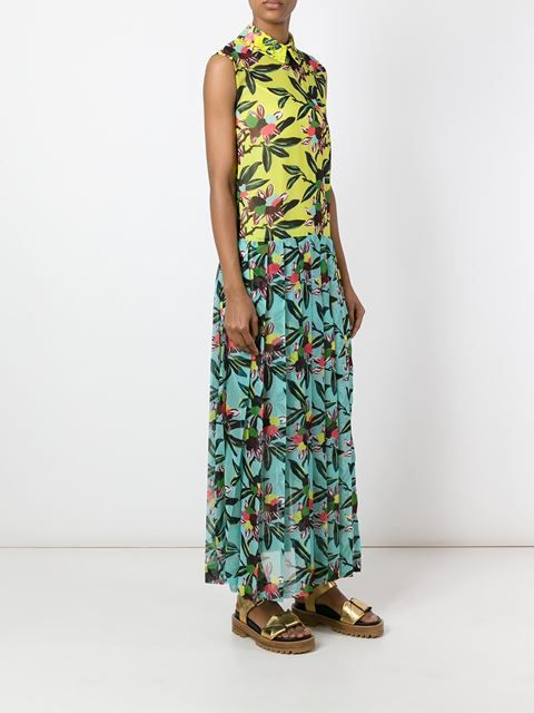 I'M Isola Marras floral print pleated dress