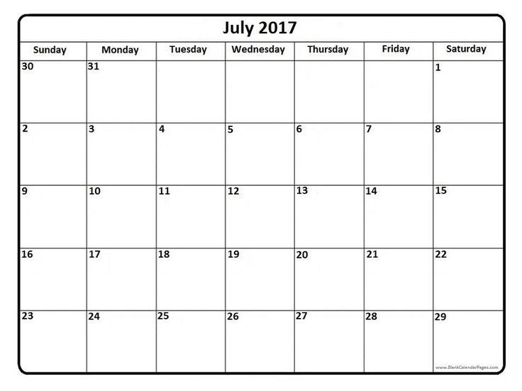July 2017 printable calendar page | It Works | Pinterest ...