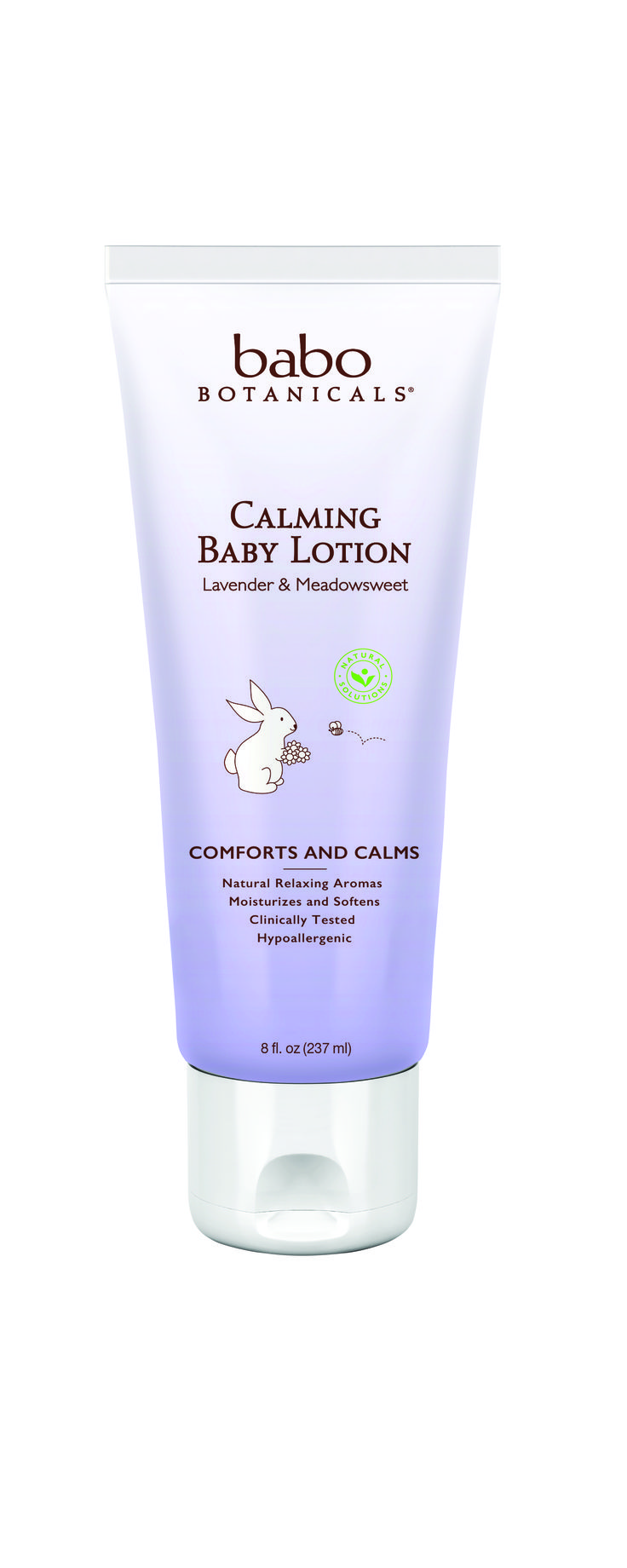 Babo's Calming Baby Lotion is perfect for calming and relaxing you or your baby. Contains a soft, soothing scent of french lavender, rose and chamomile to relax, soothe and facilitate a more restful sleep. This gentle, hypoallergenic formula also contains Meadowsweet Oil to gently moisturizes delicate skin.