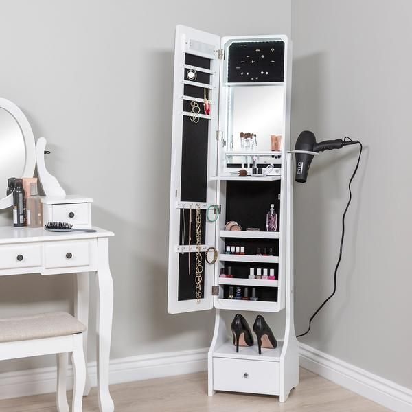 Full Length Led Mirror Jewelry Armoire