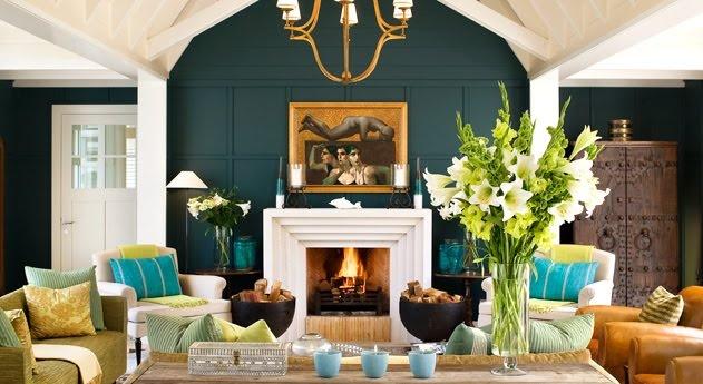 Huka Lodge, NZ. What a gorgeous room.