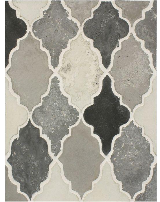 BB199 Arabesque Pattern 12 Montage Grays Vintage