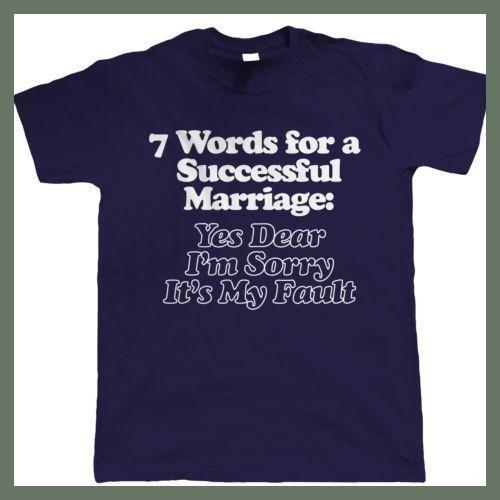 7 PALABRAS PARA A Successful Matrimonio Camiseta Divertida Hombre - T Shirt 100% Cotton Printed T-Shirt 2018 Fashion Brand