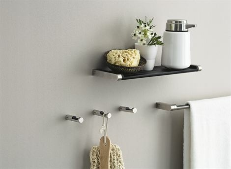vipp hooks and towel bar - simplicity for the bathroom all fromt the scandinavian design centre