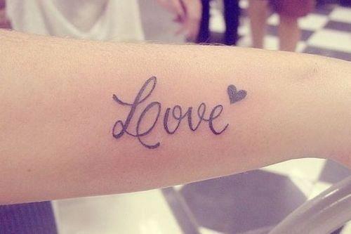 Love Tattoo For Wrist